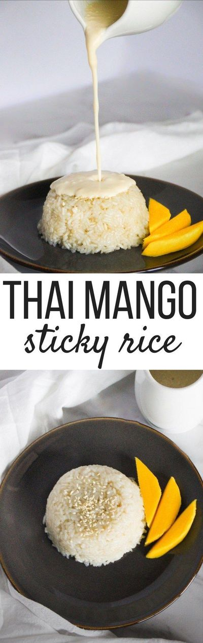 thai mango sticky rice only uses four ingredients a. Black Bedroom Furniture Sets. Home Design Ideas