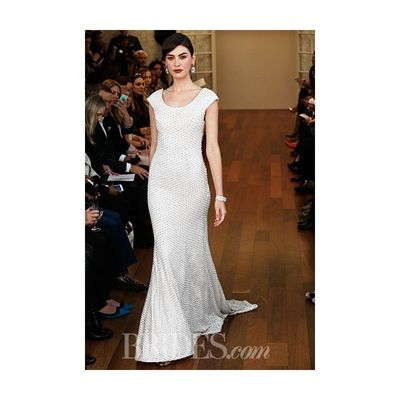 Isabelle Armstrong - Fall 2015 - Izzy Scoop Neckline Sheath Wedding Dress with Cap Sleeves - Stunning Cheap Wedding Dresses Prom Dresses On sale Various Bridal Dresses
