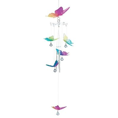 RAINBOW BUTTERFLY WIND CHIMES $9.99