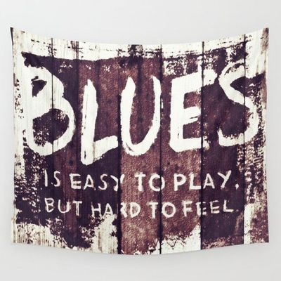 THE BLUES Wall Tapestry