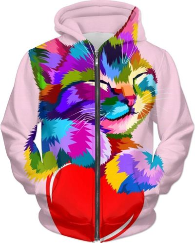 Cat and Colors Love Hoodie $89.00