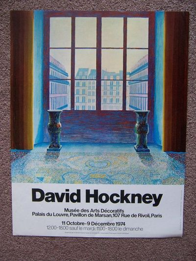 David hockney paris two vases in the louvre 1974 french for Poster decoratif