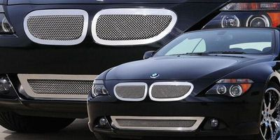 6 Series Coupe Grille 04-11 BMW 6 Series Coupe Stainless Polished 2 Piece Upper Class Series T-REX Grilles $427.07