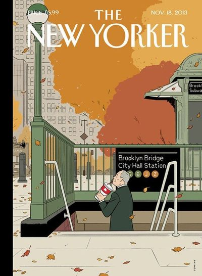 The New Yorker's New Cover Stars A Wistful, Big Gulp-Drinking Bloomberg