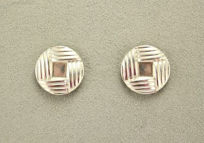 14 Karat Gold or Nickel Plated 20 mm Button Woven Knot Magnetic Clip Non Pierced Earrings $25.00 Designed by LauraWilson.com