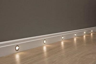 Baseboard night lights.