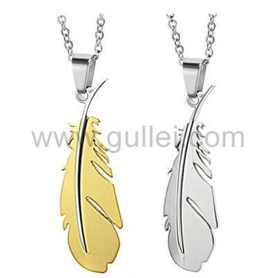 Gullei.com Personalized Feather Relationship Necklaces Set for Two https://www.gullei.com/couples-gift-ideas/matching-couple-necklaces.html