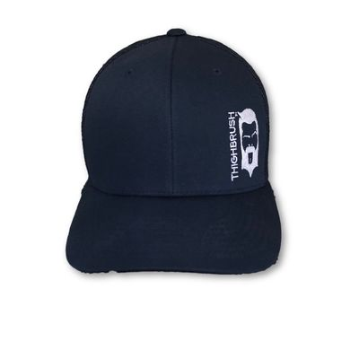 THIGHBRUSH® - Trucker Snapback Hat - Navy Blue with White Logo
