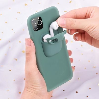 Silicone 2 in 1 iPhone and Airpods Case $19.95
