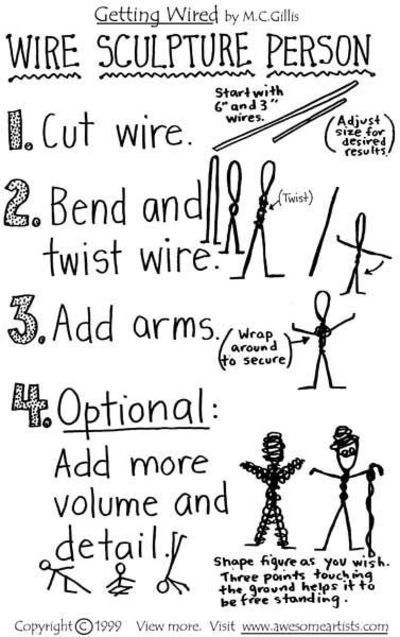 Getting wired learn basic wire sculpture techniques page 5 for How to make a wire sculpture