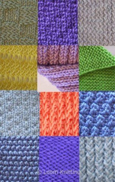 Different Knitting Stitches For Loom : Loom Knitting / knits and kits - Juxtapost