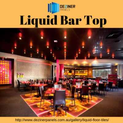 Liquid Bar Top Whether you are looking for Liquid Bar Top or Sensory liquid tiles, we are the one-stop-shop where you can expect to get it all under one roof. For more details visit our website: http://www.dezinerpanels.com.au/gallery/liquid-floor-tiles/