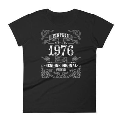 1976 Birthday Gift, Vintage Born in 1976 t-shirt for women, 42nd Birthday shirt for her, Made in 1976 T-shirt, 42 Year Old Birthday Shirt $25.00