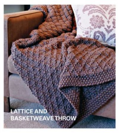 Free Knitting Pattern - Lattice and Basketweave Throw from the Afghans Free Knitting Patterns Category and Crocheting Patterns