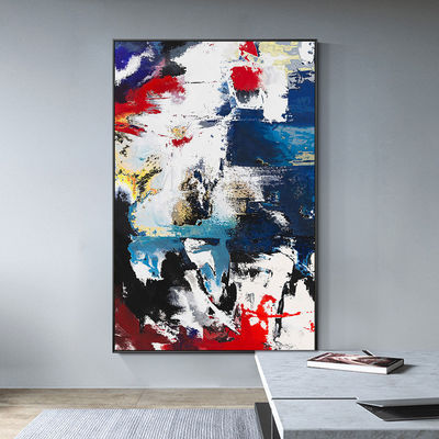 Framed wall art blue painting Modern Abstract acrylic paintings on canvas Large wall art wall pictures cuadros abstractos $123.75