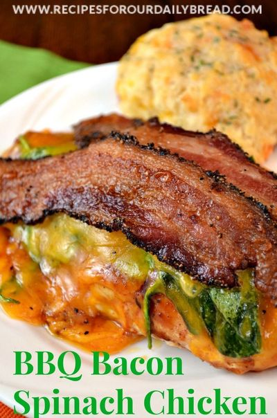 R Chicken Breast Recipes BBQ Bacon Spinach Chic...