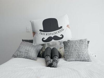 Free mustache rides a sexy ,dirty rude vulgar pillow case gag gift| batchelor party |batchelorette party | $19.95