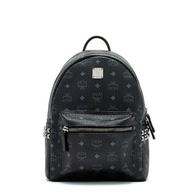 MCM Small Stark Side Odeon Studded Backpack In Black