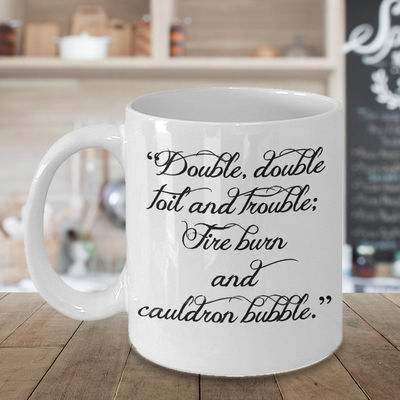 Cauldron Bubble, halloween, gothic, holiday, Samhain, ghosts, witches, goblins, shakespeare, bubble, coffee mug, coffee, cup $18.95