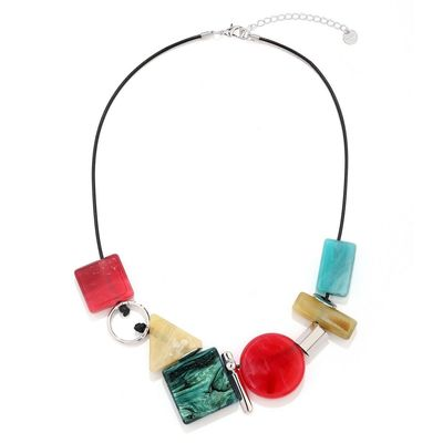 Get this beautiful multi coloured long fashion chain from Yoko's Fashion, the leading fashion necklace set wholesaler in Uk.