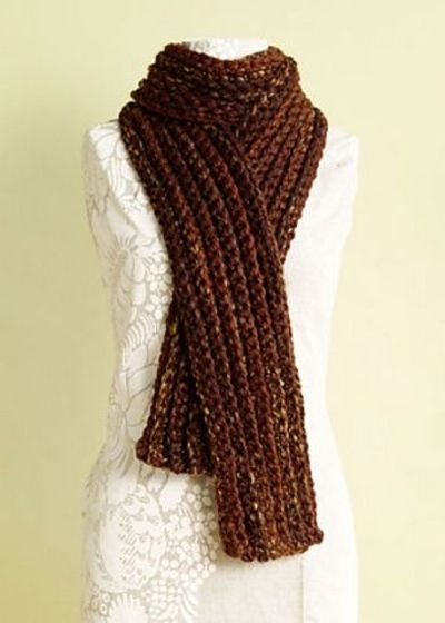 Crochet Patterns For Wool Ease : Chunky Rib Scarf, free pattern by Lion Brand Yarn. 76x7 ...