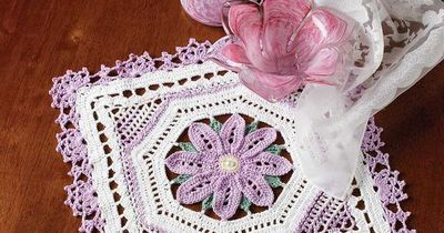 Lovely in Lavendar Doily