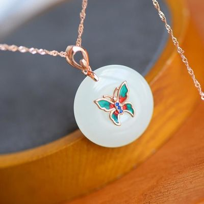 necklaces for women - S925 Silver Butterfly Pendant - Gold Plated Necklace - Animal Necklace - amulet necklace - dainty necklace