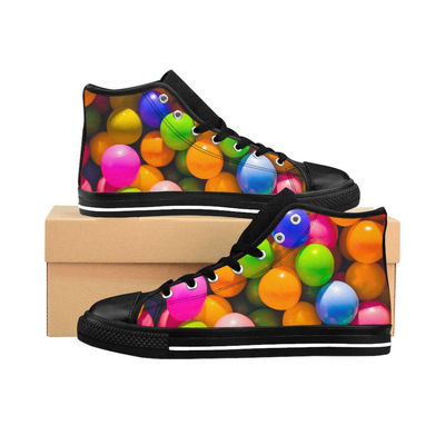 Classic colourful bubbly Women's High-top Sneakers $80.00