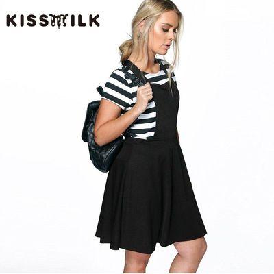 2017 slim strap dress plus size dresses summer sweet College style fashion drape dress - Bonny YZOZO Boutique Store