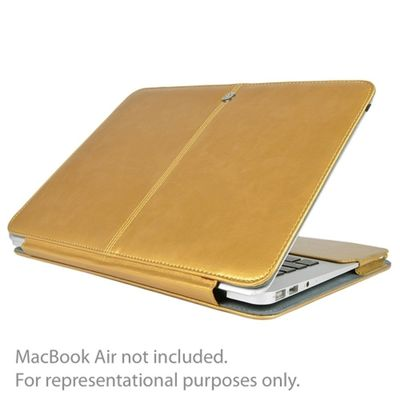 SlickBlue Leatherette Clip-On Case for 13 MacBook Pro (Champagne Gold) $24.02
