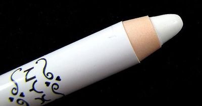 nyx jumbo eye pencil MILK -- use underneath your brow and blend it out, inner tear duct and also underneath your eyeshadow to make the colors more vibrant.