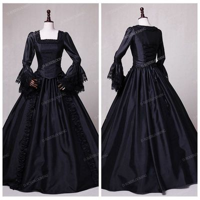 black victorian ball gown - photo #29