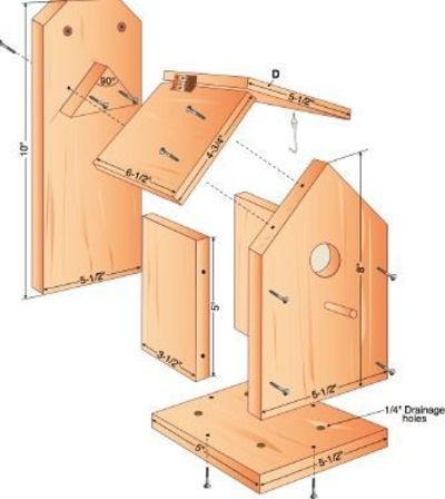 Free Build Your Own Birdhouse Plans Hate The Partiotic