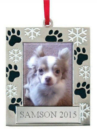 Dog Ornament Personalized, Dog Gift, Pet Memorial, Photo Picture Frame, Pet Loss, Christmas gift, Engraved, Dog Gift for Owners $22.00