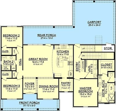 3 Bed Acadian Home Plan With Bonus Over Garage 51742hz 1 For The Home Juxtapost