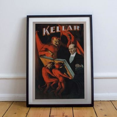 Vintage Magician Poster- Magician Keller with Demons - No Frame $20.00