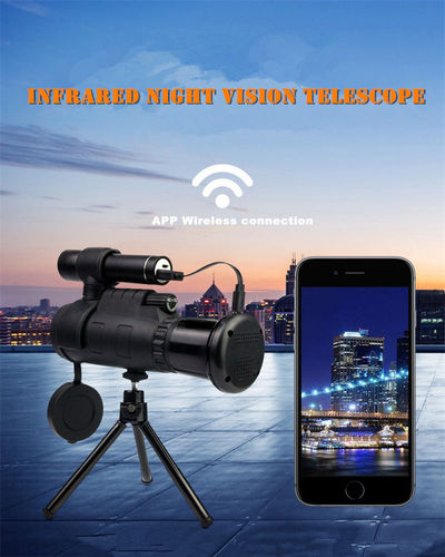 40X60 Zoom Infrared Night Vision Phone Telescope Military Digital Powerful Outdoor Hunting Monocular