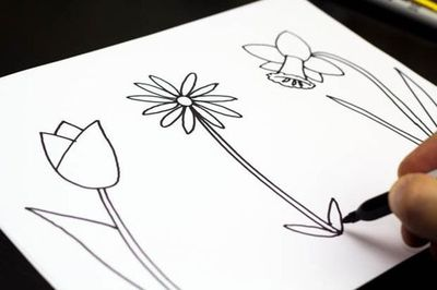 How to draw spring flowers nice signs juxtapost how to draw spring flowers mightylinksfo