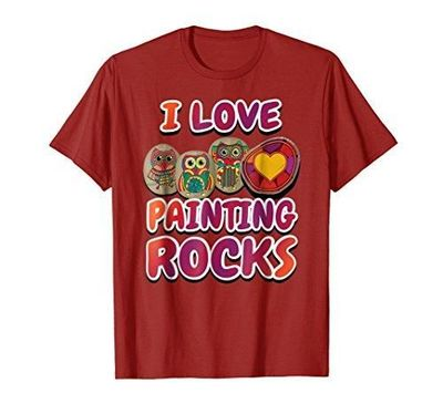 I Love Painting Rocks Artsy Rock T-Shirt $17.99