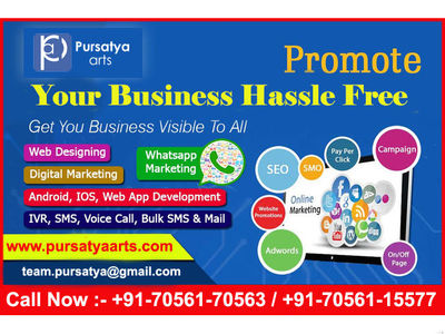 Pursatya Arts is a leading digital marketing company in ambala offering all digital marketing services Such as Search Engine Optimization(SEO),Social Media Marketing(SMO), PPC, E-mail marketing,Online Promotion etc are much common. 