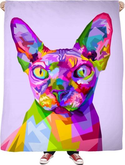 Hairless Cat Fleece Blanket $65.00