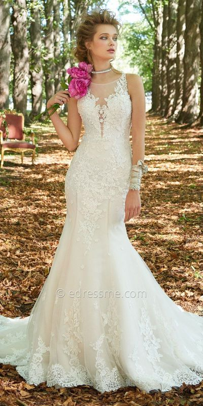 Tulle Beaded Lace Mermaid Wedding Dress By Camille La Vie $905.00
