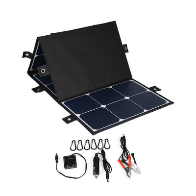 Sunpower 300W 18V Foldable 5 Solar Panel Charger Solar Power Bank for Huawei iPhone Samsung