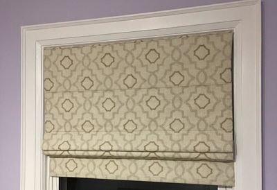 Flat Cotton Roman Shade In Swain Plateau Pattern $49.99