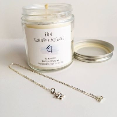 Forest Walk - Hidden Necklace Soy Wax All Natural Hand Poured Candle - 4 oz $35.00
