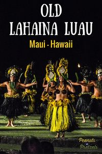 A star-filled sky, swaying palm trees, torch-lights & waves crashing nearby, the setting is perfect for our evening at the Old Lahaina Luau in Maui, Hawaii.