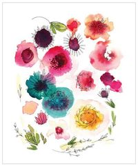 I'm in love with these beautiful watercolor prints from Kelly Ventura - see three of my favorites at The Sweetest Occasion