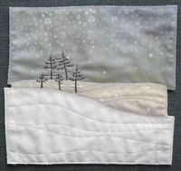 AND SEW IT GOES: Small work Like this pic - would make the snow and sky patchwork