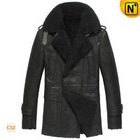 CWMALLS® Custom Sheepskin Pea Coat CW851306