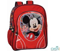The Disney Mickey Mouse school bags are made of highest quality fabric, 3D design and for little cherubs.